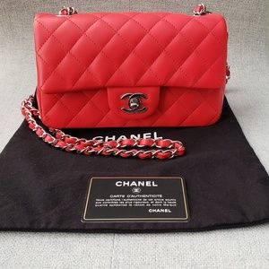 6f49c01edc8d3c Women Chanel Classic Flap Bag Red on Poshmark